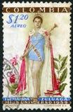 ΚΟΛΟΜΒΙΑ - CIRCA 1959: παρουσιάζει μαρίνα Zuluaga Luz (γεννημένο το 1938), η Δεσποινίς Universe το 1958 Στοκ Εικόνες
