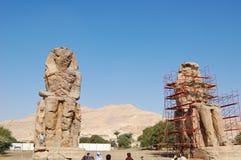 Κολοσσοί Memnon σε Luxor Στοκ Εικόνα