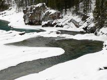 κολπίσκος χιονώδης Στοκ εικόνες με δικαίωμα ελεύθερης χρήσης