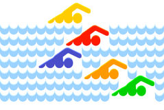 κολυμβητής διανυσματική απεικόνιση