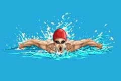 Κολυμβητής απεικόνιση αποθεμάτων