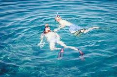 Κολυμπήστε με αναπνευτήρα στην Κροατία στοκ εικόνες