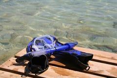 κολυμπήστε με αναπνευτή&r Στοκ Εικόνες