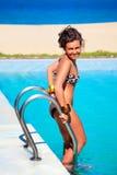 κολυμπώντας γυναίκα λιμ&n Στοκ Φωτογραφία