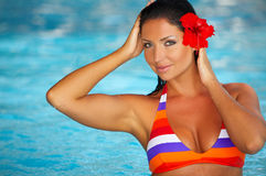 κολυμπώντας γυναίκα λιμ&n Στοκ Εικόνα