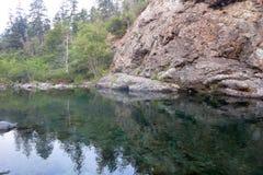 Κολυμπώντας τρύπα στον ποταμό Smith στοκ εικόνες