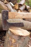 κολόβωμα τσεκουριών Στοκ φωτογραφία με δικαίωμα ελεύθερης χρήσης
