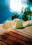 κολύμβηση θερέτρου λιμνώ&nu Στοκ φωτογραφίες με δικαίωμα ελεύθερης χρήσης