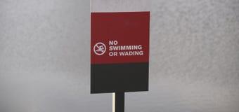 Κολύμβηση και Wading που απαγορεύονται Στοκ φωτογραφία με δικαίωμα ελεύθερης χρήσης