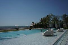 κολύμβηση λιμνών πολυτέλ&epsi στοκ εικόνα
