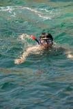 κολύμβηση με αναπνευστήρα Στοκ Φωτογραφία