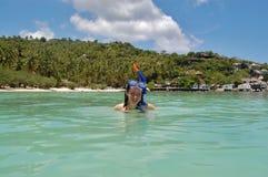 κολύμβηση με αναπνευστήρ& Στοκ φωτογραφία με δικαίωμα ελεύθερης χρήσης