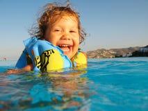 κολύμβηση παιδιών Στοκ Εικόνα