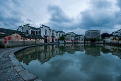 Κομητεία Yixian, σύννεφα Anhui Hongcun κάτω από το έλος Στοκ φωτογραφίες με δικαίωμα ελεύθερης χρήσης