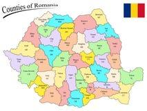 Κομητείες της Ρουμανίας Στοκ Εικόνες