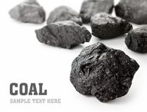 Κομμάτια άνθρακα Στοκ φωτογραφία με δικαίωμα ελεύθερης χρήσης