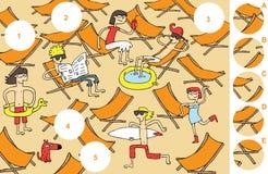 Κομμάτια αντιστοιχιών, οπτικό παιχνίδι Στοκ εικόνες με δικαίωμα ελεύθερης χρήσης