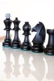 κομμάτια γυαλιού σκακι&omi Στοκ εικόνες με δικαίωμα ελεύθερης χρήσης