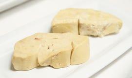 κομμάτια δύο gras παπιών foie στοκ εικόνες