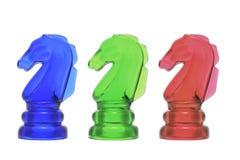 κομμάτια ιπποτών σκακιού Στοκ Φωτογραφία