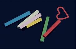 κομμάτια καρδιών κιμωλίας Στοκ Εικόνα