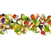 Κομμάτια πετάγματος του λαχανικού που απομονώνονται στο άσπρο υπόβαθρο Στοκ Εικόνες