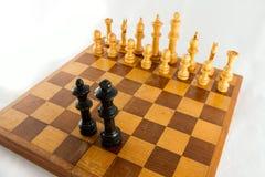 Κομμάτια σκακιού στο χαρτόνι Στοκ εικόνες με δικαίωμα ελεύθερης χρήσης