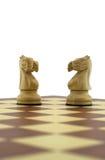 κομμάτια σκακιού Στοκ Φωτογραφίες