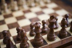 κομμάτια σκακιού Στοκ Εικόνα