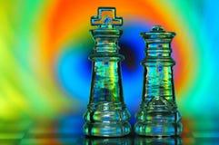 κομμάτια σκακιού Στοκ Εικόνες
