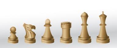 κομμάτια σκακιού ελεύθερη απεικόνιση δικαιώματος
