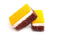 κομμάτια σοκολάτας κέικ Στοκ Φωτογραφία