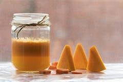 Κομμάτια της κολοκύθας και του πορτοκαλιού Στοκ φωτογραφία με δικαίωμα ελεύθερης χρήσης