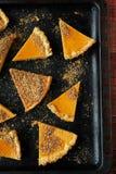 Κομμάτια της πίτας κολοκύθας Στοκ Φωτογραφίες