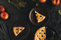 Κομμάτια της πίτας μήλων Στοκ Εικόνες