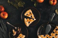 Κομμάτια της πίτας μήλων Στοκ φωτογραφίες με δικαίωμα ελεύθερης χρήσης