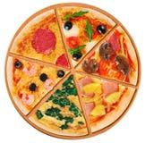 Κομμάτια της πίτσας σε ένα άσπρο υπόβαθρο Στοκ φωτογραφίες με δικαίωμα ελεύθερης χρήσης