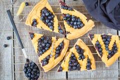 Κομμάτια της σπιτικής ανοικτής πίτας βακκινίων Στοκ Φωτογραφίες