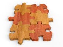 Κομμάτια τορνευτικών πριονιών κατάλληλα μαζί - ξύλινος ελεύθερη απεικόνιση δικαιώματος