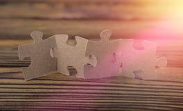 Κομμάτια του γρίφου, η έννοια της ομαδικής εργασίας για την επιχείρηση Στοκ Φωτογραφίες