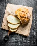 Κομμάτια του ευώδους ψωμιού στοκ εικόνες