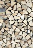Κομμάτια του ξύλου για την οικολογική θέρμανση Στοκ εικόνες με δικαίωμα ελεύθερης χρήσης