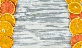 Κομμάτια του πορτοκαλιού και του γκρέιπφρουτ Στοκ Φωτογραφία
