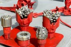 Κομμάτια τρυπανιών για την εξαγωγή πετρελαίου και φυσικού αερίου Στοκ φωτογραφία με δικαίωμα ελεύθερης χρήσης