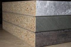Κομμάτια των επιτραπέζιων κορυφών Στοκ Εικόνα