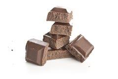 κομμάτια δύο σοκολάτας Στοκ Φωτογραφία