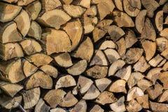 Κομμάτια teak του ξύλινου υποβάθρου κολοβωμάτων Στοκ φωτογραφία με δικαίωμα ελεύθερης χρήσης