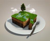 Κομμάτι γης ελεύθερη απεικόνιση δικαιώματος