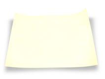 κομμάτι εγγράφου κίτρινο στοκ φωτογραφίες