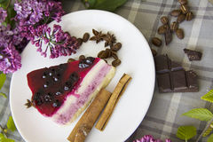 Κομμάτι εύγευστο cheesecake 02 Στοκ φωτογραφίες με δικαίωμα ελεύθερης χρήσης